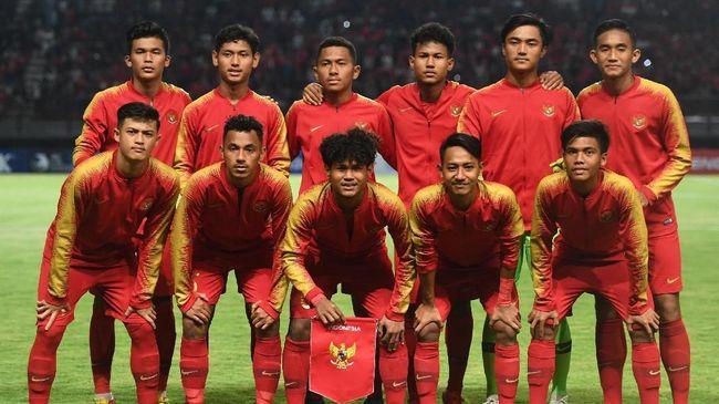 Pertandingan Sepak Bola Timnas U-19 Indonesia Melawan Tim Bulgaria